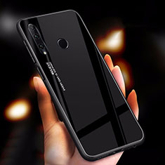 Carcasa Bumper Funda Silicona Espejo Gradiente Arco iris para Huawei Honor 20 Lite Negro