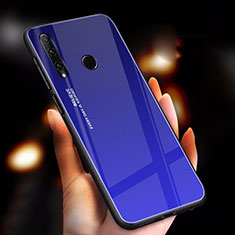 Carcasa Bumper Funda Silicona Espejo Gradiente Arco iris para Huawei Honor 20i Azul