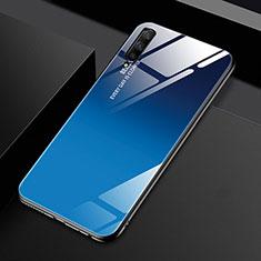Carcasa Bumper Funda Silicona Espejo Gradiente Arco iris para Huawei Honor 9X Pro Azul