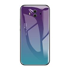 Carcasa Bumper Funda Silicona Espejo Gradiente Arco iris para Huawei Mate 10 Multicolor