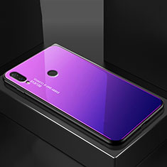 Carcasa Bumper Funda Silicona Espejo Gradiente Arco iris para Huawei P20 Lite Azul