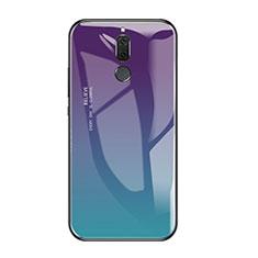 Carcasa Bumper Funda Silicona Espejo Gradiente Arco iris para Huawei Rhone Multicolor