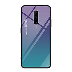 Carcasa Bumper Funda Silicona Espejo Gradiente Arco iris para OnePlus 7 Pro Multicolor