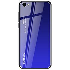 Carcasa Bumper Funda Silicona Espejo Gradiente Arco iris para Oppo A3 Azul