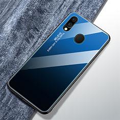 Carcasa Bumper Funda Silicona Espejo Gradiente Arco iris para Samsung Galaxy A40 Azul