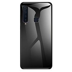 Carcasa Bumper Funda Silicona Espejo Gradiente Arco iris para Samsung Galaxy A9s Negro