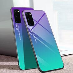 Carcasa Bumper Funda Silicona Espejo Gradiente Arco iris para Samsung Galaxy S20 5G Multicolor