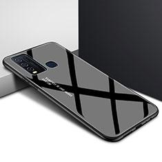Carcasa Bumper Funda Silicona Espejo Gradiente Arco iris para Vivo Y50 Negro