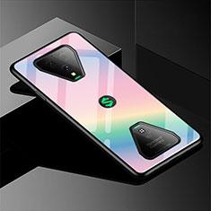 Carcasa Bumper Funda Silicona Espejo Gradiente Arco iris para Xiaomi Black Shark 3 Pro Rosa