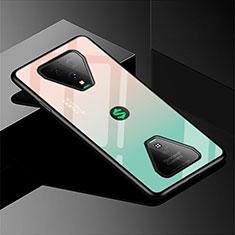 Carcasa Bumper Funda Silicona Espejo Gradiente Arco iris para Xiaomi Black Shark 3 Verde