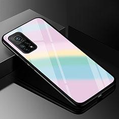Carcasa Bumper Funda Silicona Espejo Gradiente Arco iris para Xiaomi Mi 10T 5G Vistoso