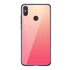 Carcasa Bumper Funda Silicona Espejo Gradiente Arco iris para Xiaomi Mi 8 SE Rosa Roja