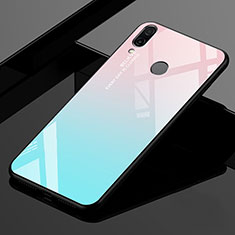 Carcasa Bumper Funda Silicona Espejo Gradiente Arco iris para Xiaomi Redmi 7 Cian