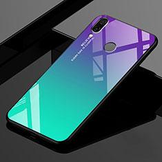 Carcasa Bumper Funda Silicona Espejo Gradiente Arco iris para Xiaomi Redmi 7 Verde