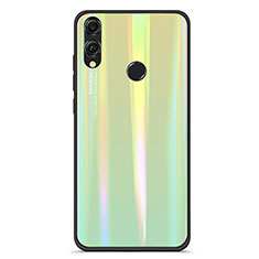 Carcasa Bumper Funda Silicona Espejo Gradiente Arco iris R01 para Huawei Honor 8X Verde