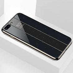 Carcasa Bumper Funda Silicona Espejo M01 para Apple iPhone 8 Plus Negro