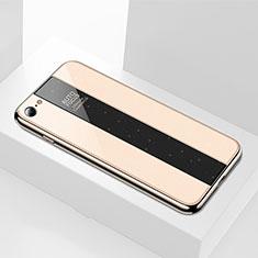 Carcasa Bumper Funda Silicona Espejo M01 para Apple iPhone SE (2020) Oro