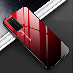 Carcasa Bumper Funda Silicona Espejo M01 para Huawei Honor 30 Lite 5G Rojo