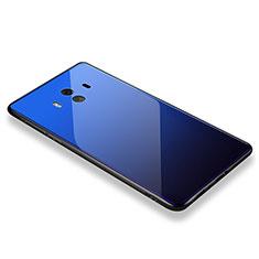 Carcasa Bumper Funda Silicona Espejo M01 para Huawei Mate 10 Azul