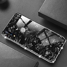 Carcasa Bumper Funda Silicona Espejo M01 para Huawei P20 Lite Negro