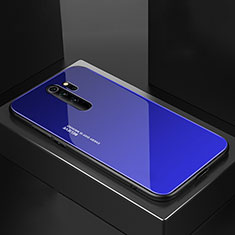 Carcasa Bumper Funda Silicona Espejo M02 para Xiaomi Redmi Note 8 Pro Azul