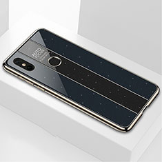 Carcasa Bumper Funda Silicona Espejo M03 para Xiaomi Mi Mix 3 Negro