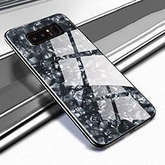 Carcasa Bumper Funda Silicona Espejo M04 para Samsung Galaxy Note 8 Duos N950F Negro