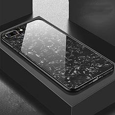 Carcasa Bumper Funda Silicona Espejo para Apple iPhone 8 Plus Negro