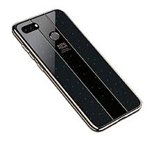 Carcasa Bumper Funda Silicona Espejo para Huawei Enjoy 8 Plus Negro