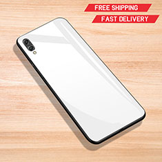 Carcasa Bumper Funda Silicona Espejo para Huawei Enjoy 9 Blanco