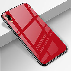 Carcasa Bumper Funda Silicona Espejo para Huawei Enjoy 9e Rojo