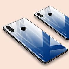 Carcasa Bumper Funda Silicona Espejo para Huawei Honor 10 Lite Azul