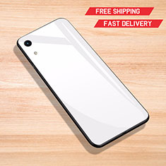 Carcasa Bumper Funda Silicona Espejo para Huawei Honor Play 8A Blanco