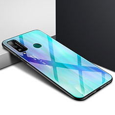 Carcasa Bumper Funda Silicona Espejo para Huawei Honor Play4T Cian