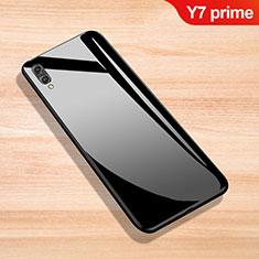 Carcasa Bumper Funda Silicona Espejo para Huawei Y7 Prime (2019) Negro
