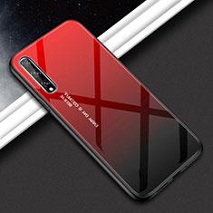 Carcasa Bumper Funda Silicona Espejo para Huawei Y8p Rojo