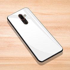 Carcasa Bumper Funda Silicona Espejo para Nokia 7 Plus Blanco