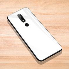 Carcasa Bumper Funda Silicona Espejo para Nokia X6 Blanco