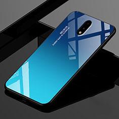 Carcasa Bumper Funda Silicona Espejo para OnePlus 7 Azul