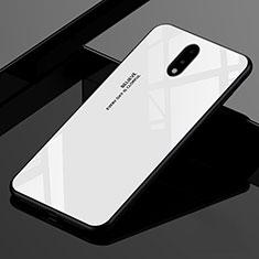 Carcasa Bumper Funda Silicona Espejo para OnePlus 7 Blanco