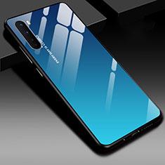 Carcasa Bumper Funda Silicona Espejo para OnePlus Nord Azul