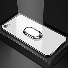 Carcasa Bumper Funda Silicona Espejo para Oppo A71 Blanco
