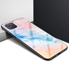 Carcasa Bumper Funda Silicona Espejo para Oppo A92s 5G Naranja