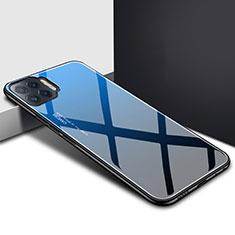 Carcasa Bumper Funda Silicona Espejo para Oppo Reno4 Lite Azul