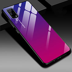 Carcasa Bumper Funda Silicona Espejo para Realme V5 5G Rosa Roja