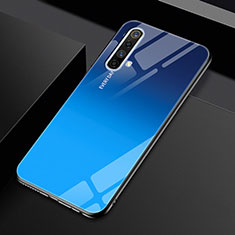 Carcasa Bumper Funda Silicona Espejo para Realme X50 5G Azul