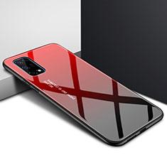 Carcasa Bumper Funda Silicona Espejo para Realme X7 Pro 5G Rojo