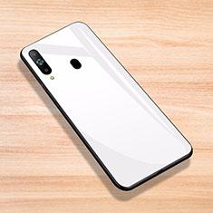 Carcasa Bumper Funda Silicona Espejo para Samsung Galaxy A8s SM-G8870 Blanco