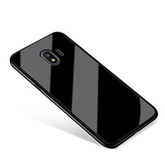 Carcasa Bumper Funda Silicona Espejo para Samsung Galaxy Grand Prime Pro (2018) Negro