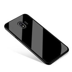 Carcasa Bumper Funda Silicona Espejo para Samsung Galaxy J2 Pro (2018) J250F Negro